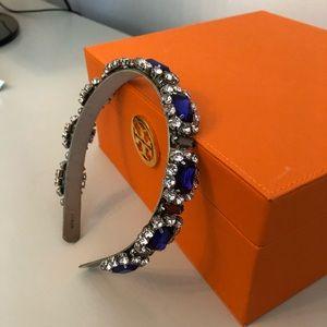 J. Crew Accessories - JCrew headband blue stones